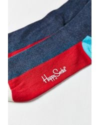 Happy Socks - Red Colorblocked Sock for Men - Lyst