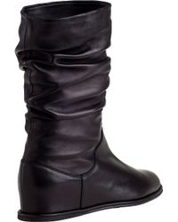 Stuart Weitzman - Harbor Wedge Boot Black Leather - Lyst