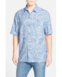 Tommy Bahama | Blue 'lava Bloom' Short Sleeve Camp Shirt for Men | Lyst