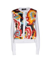 DSquared² - White Cardigan - Lyst