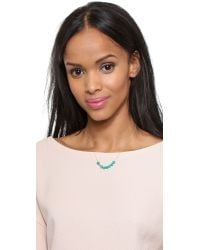 Ginette NY | Blue Fallen Sky Bead & Tube Necklace - Turquoise/rose Gold | Lyst