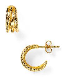 Gorjana | Metallic Marin Mini Hoop Earrings | Lyst
