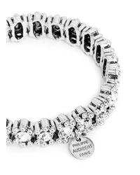 Philippe Audibert - Metallic 'New Amelia' Round Cut Crystal Elastic Bracelet - Lyst