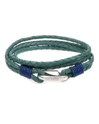 Ted Baker | Blue Plaited Leather Band Bracelet for Men | Lyst