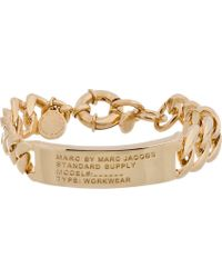 Marc By Marc Jacobs - Metallic Gold Toggles And Turnlocks Standard Supply I.D. Bracelet - Lyst