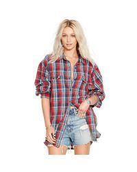 Denim & Supply Ralph Lauren - Red Plaid Rl Big Shirt - Lyst