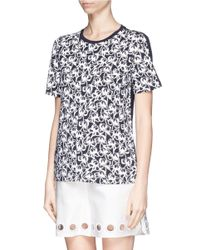 Tory Burch | Multicolor 'cathy' Rubber Floral Print T-shirt | Lyst