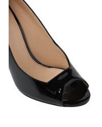 HUGO | Black Patent Leather Peep-toes: 'ramoon-p' | Lyst