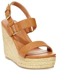 Callisto | Brown Mykonos Platform Wedge Sandals | Lyst