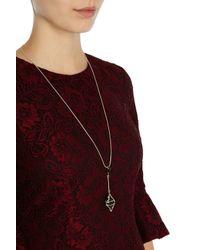 Coast | Metallic Evelyn Droplet Necklace | Lyst