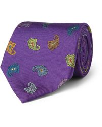 Etro - Purple Paisleypatterned Silk Tie for Men - Lyst