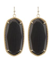 Kendra Scott | Black Deily Drop Earrings | Lyst