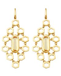 Astley Clarke - Metallic Gold-plated Citrine Prismic Chandelier Earrings - Lyst
