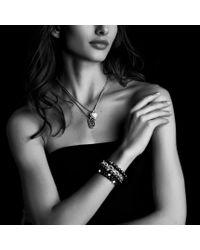 David Yurman - Blue Midnight Mélange Small Tag with Diamonds On Chain - Lyst