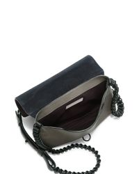Rag & Bone - Gray Enfield Mini Two-tone Leather Crossbody Bag - Lyst