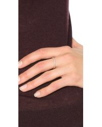 Zoe Chicco - Metallic Round Diamond Bezel Ring - Lyst