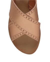 Lucky Brand   Metallic Slingback Flat Sandals   Lyst
