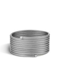 John Hardy | Gray Classic Chain Multiple Coil Bracelet In Silver With Diamonds | Lyst