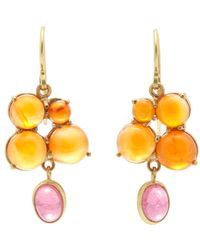Judy Geib - Orange Carnelian, Pink Tourmaline & Gold Drop Earrings - Lyst