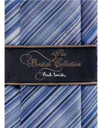 Paul Smith - Blue Multi Stripe Tie for Men - Lyst