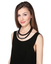 Pieces | Black Necklace / Longcollar | Lyst