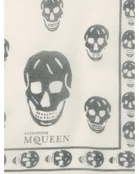 Alexander McQueen - Multicolor Classic Skull Modal-silk Scarf - Lyst