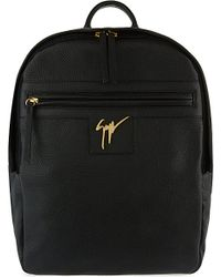 Giuseppe Zanotti | Black Zipped Leather Backpack for Men | Lyst