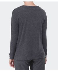 Velvet By Graham & Spencer | Gray Sancha Brushed Sweater | Lyst