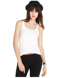 Maison Jules - White Sleeveless Scoop-Neck Tank - Lyst