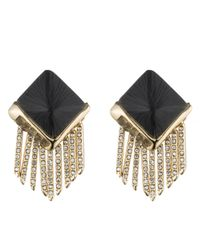 Alexis Bittar | Black Lucite Fringe Pyramid Clip Earring You Might Also Like | Lyst