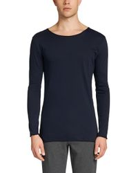 HUGO | Blue Loose Fit Long-sleeved Shirt In Cotton: 'doops' for Men | Lyst