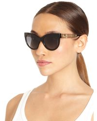 Dolce & Gabbana - Black Filigree Cat'S-Eye Sunglasses - Lyst