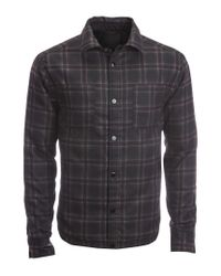 Aéropostale | Black Reversible Solid & Plaid Puffer Jacket for Men | Lyst