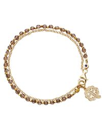 Biography - Metallic Smoky Quartz Four Leaf Clover Bracelet - Lyst
