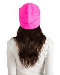Autumn Cashmere - Ribbed Bag Hat in Pink - Lyst