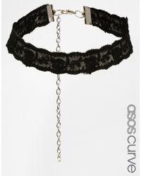 Asos Curve | Black Lace Choker Necklace | Lyst