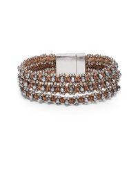 Serefina | Metallic Desert Triple-Strand Woven Bracelet | Lyst
