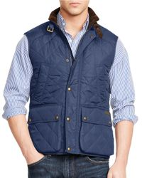 Polo Ralph Lauren | Blue Quilted Vest for Men | Lyst