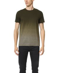 Vince | Green Herringbone Ombre Tee for Men | Lyst