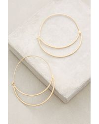 Anthropologie | Metallic Crescent Moon Hoops | Lyst
