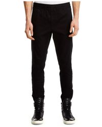 Kenneth Cole | Black Solid Straight-fit Joggers for Men | Lyst