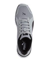 PUMA - Grey & Black Blur Sneakers for Men - Lyst