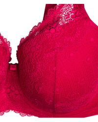 H&M - Red Padded Bra E/f Cup - Lyst