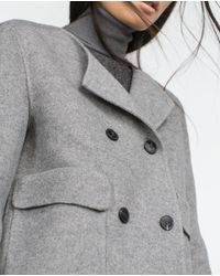 Zara | Gray Hand Made Coat | Lyst