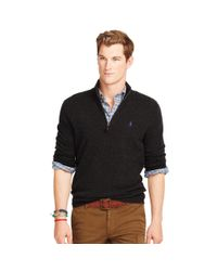 Polo Ralph Lauren | Black Merino Half-zip Sweater for Men | Lyst