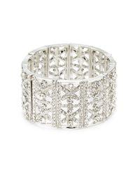 Cara | Metallic Rhinestone Stretch Bracelet | Lyst