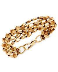Lucky Brand - Metallic Gold-tone Coin Bracelet - Lyst