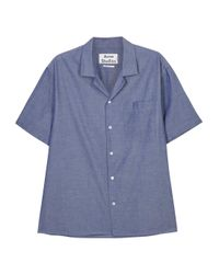 Acne Studios - Ody Blue Chambray Shirt for Men - Lyst