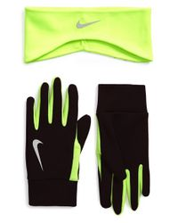 Nike | Black Thermal Headband & Glove Set for Men | Lyst