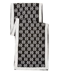 MICHAEL Michael Kors | Black Jet Set Logo Border Scarf | Lyst